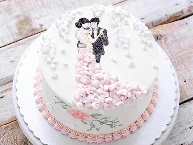 Bánh cưới 1 tầng đẹp đơn giản