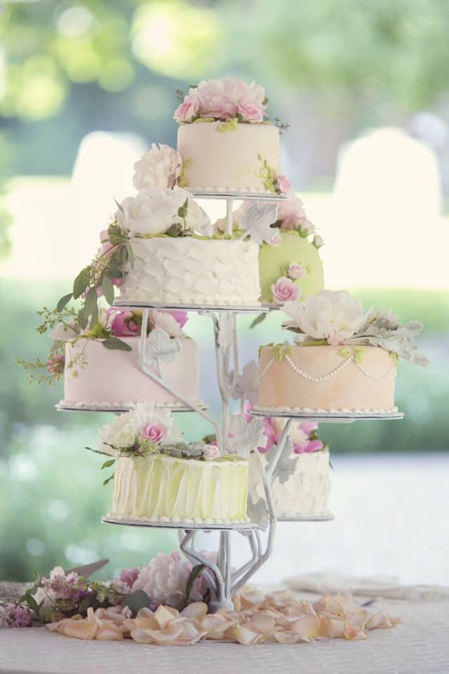 bánh cưới 1 tầng đơn giản