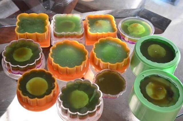 bánh trung thu thạch rau câu nhân đậu xanh