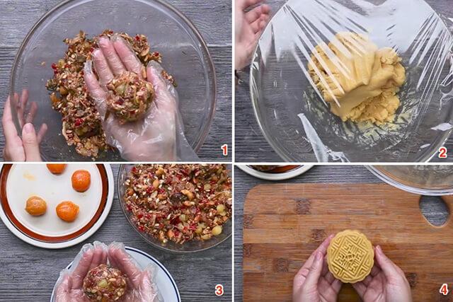 cách làm bánh trung thu thập cẩm gà quay
