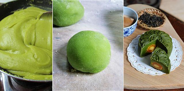Cách làm bánh trung thu vị matcha
