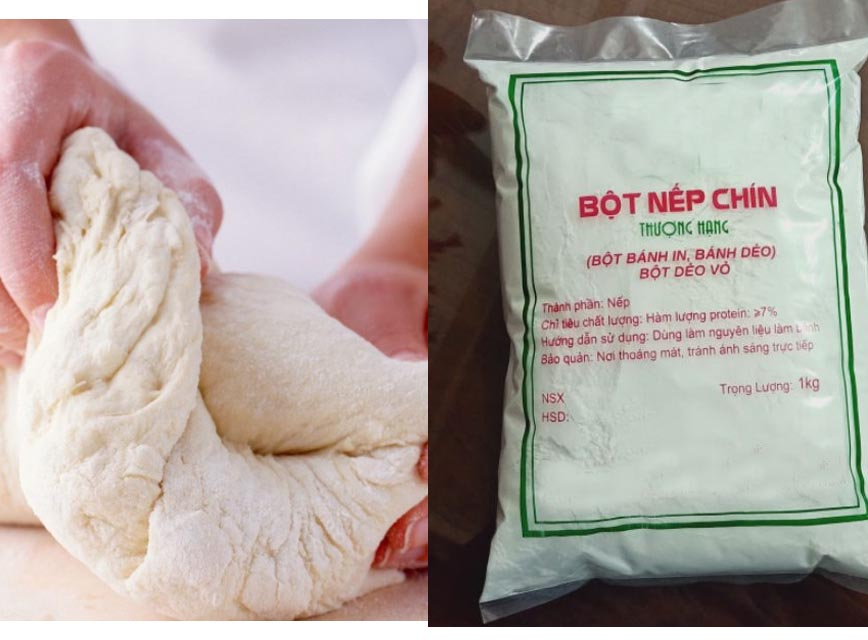 mua bột làm bánh dẻo trung thu